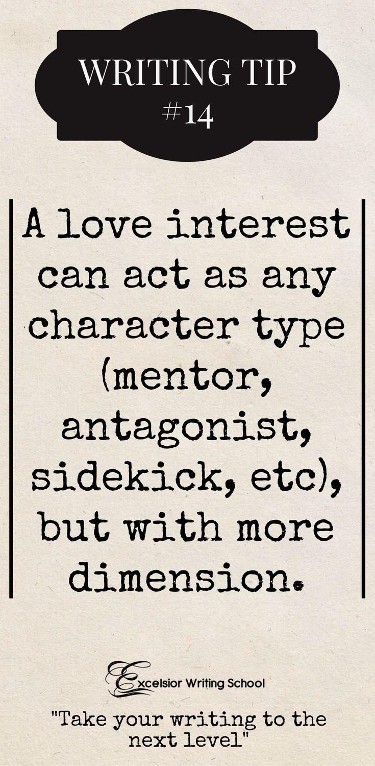 While they can certainly be cheesy, when done right, a love interest can be one of the best character archetypes to have in your novel. #writingtips