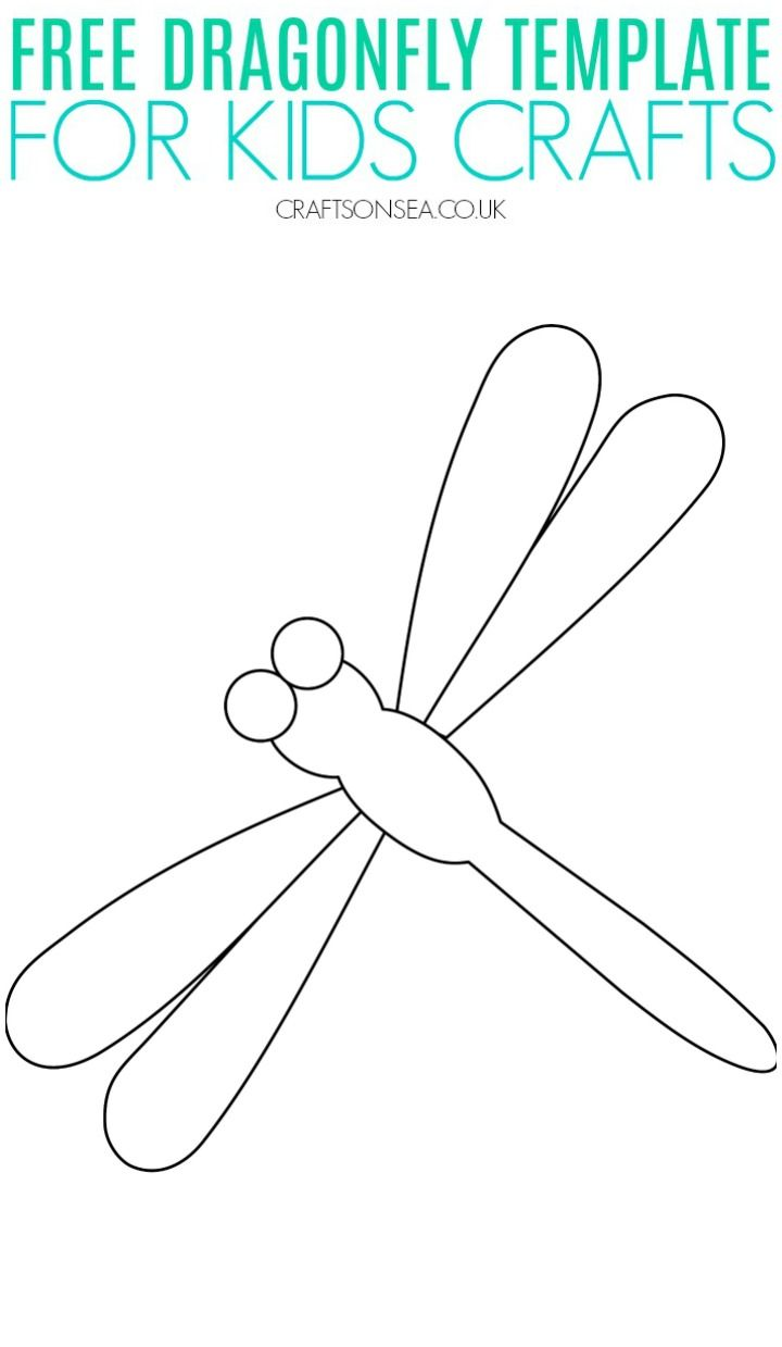 Free Dragonfly Template Printable Pdf Easy Crafts For Kids Bee Template Templates Printable Free