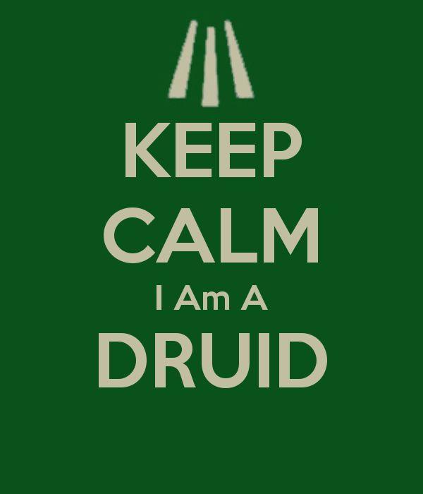 KEEP CALM I Am A DRUID