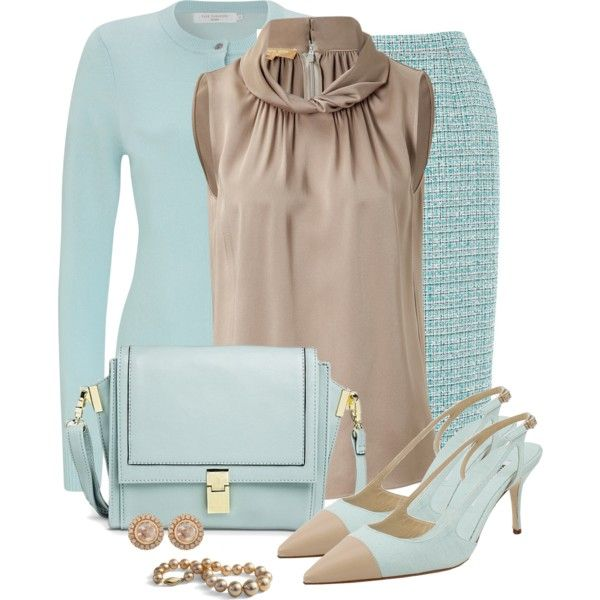 Soft Turquoise and Camel by snickersmother on Polyvore featuring Michael Kors, John Lewis, Eastex, Manolo Blahnik, Mossimo and Zoe