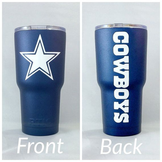 Blue/White Dallas Cowboys 30oz RTIC by CarolinaCustomCoats