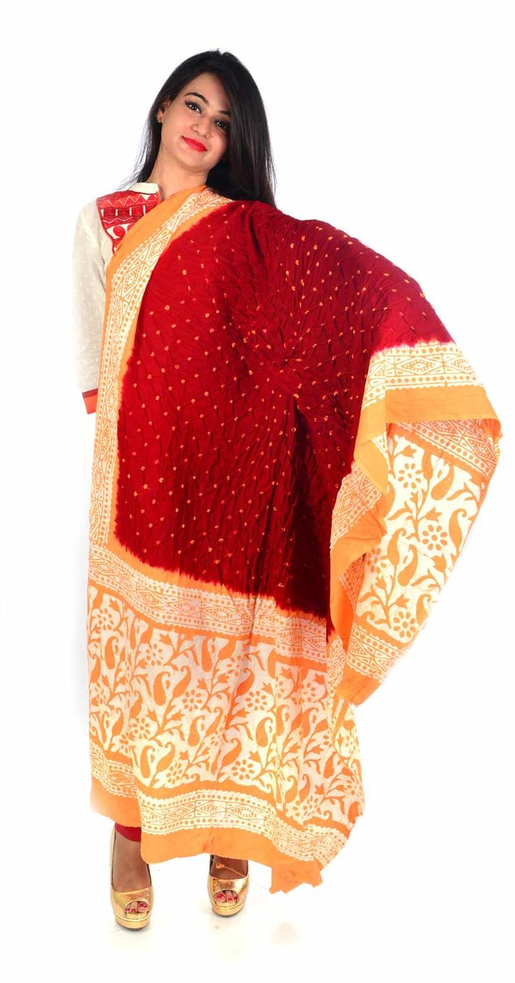 Styleincraft Handmade cotton Bandhej printed mix Dupatta  available in 2 shade Red and Yellow  color design. This combination is unique mix n match you can find our best collection in Dupattas.  #Buyhandbagsonline #HandmadeHandbags #Authenticdesignerhandbags #Womenswallets #Pursesonline #Handmadeitems #Styleincraft