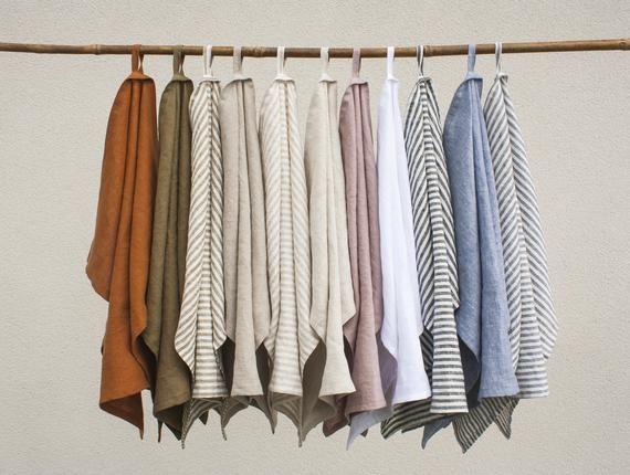 Linen Tea Towel Linen Kitchen Towel Linen Teatowel Linen