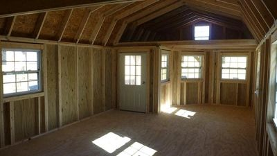 Deluxe Side Lofted Barn Cabin ~ Portable Art Studio Building - Portable Buildings - Storage and Garden Sheds