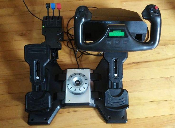Saitek Pro Flight Yoke System, Throttle Quadrant Rudder Pedals AC Adapter | eBay