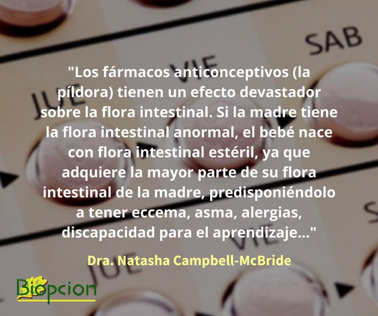 Anticonceptivos y salud intestinal
