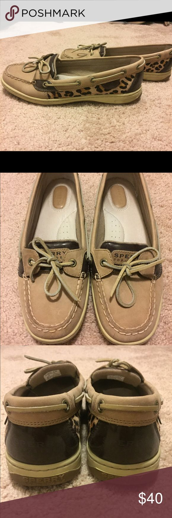 Women's Leopard Sperry Topsiders Excellent condition! Only worn a few times. Sperry Top-Sider Shoes Flats & Loafers