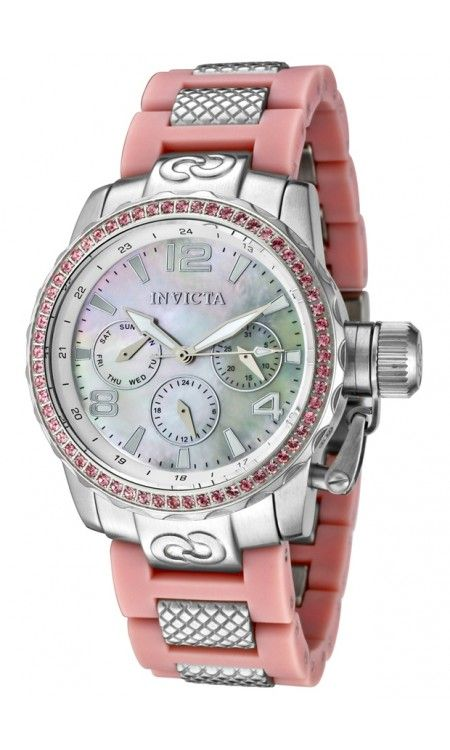 Invicta Women's Corduba Pink Crystal Pink Polyurethane & Stainless Steel Women's Watch INVICTA-1705