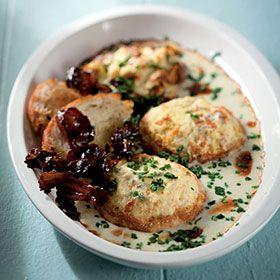 Double-baked cauliflower souffle