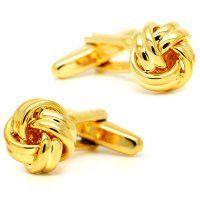 Manschettenknöpfe goldene Knoten