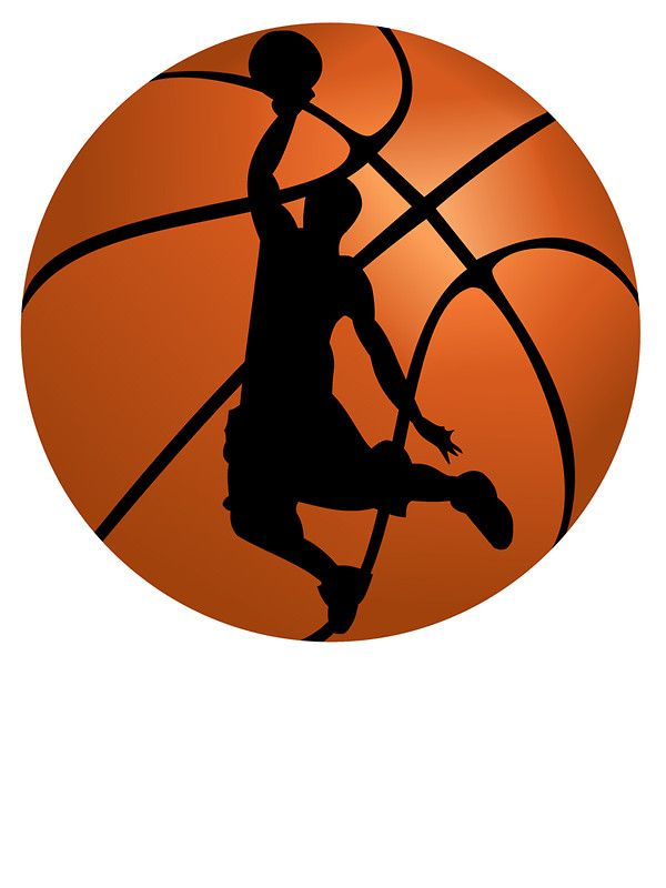 Basketball Dunk Silhouette | canvas crafts | Pinterest ...
