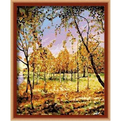 Картина-раскраска по номерам «В золоте листвы» | HB4050122