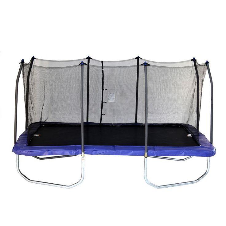 Skywalker Trampolines 15' Rectangle Trampoline with Enclosure, Blue