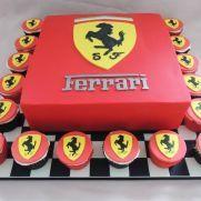 Ferrari cake & cupcakes