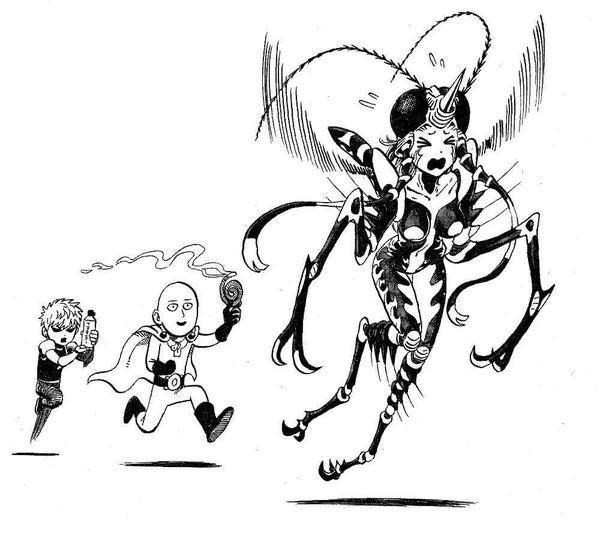 Saitama, Genos and Mosquito Girl | One-Punch Man