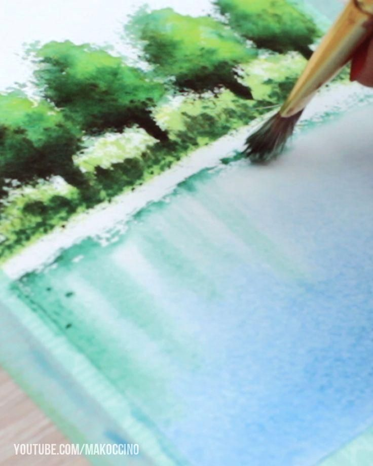 Water Reflections With Watercolor Paint Watercolor Painting