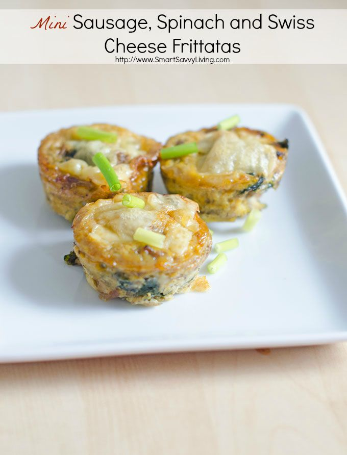 ... Sausage, Spinach and Swiss Cheese Frittatas Recipe | SmartSavvyLiving