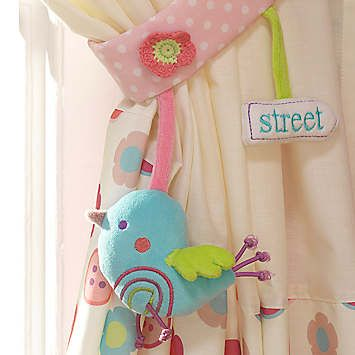 Tweet Tie Backs by Lollipop Lane | Curtains & Blinds | Home | Look Again