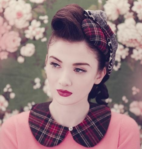 Vintage Hair and just a little bit of tartan