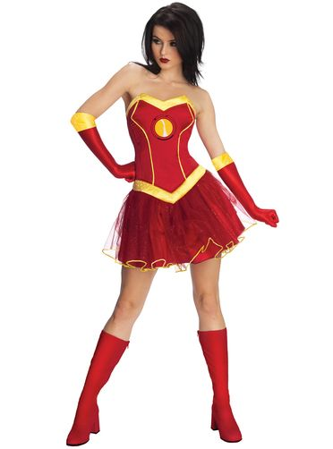 Costume de Rescue dans Iron Man Marvel classic pour femme