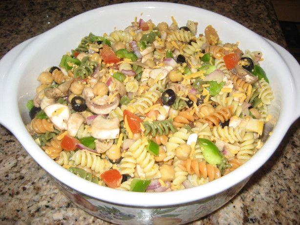 Easy Tri Color Pasta Salad