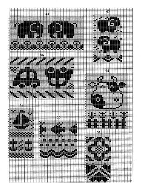 2189 best Knitting charts images on Pinterest | Block prints ...