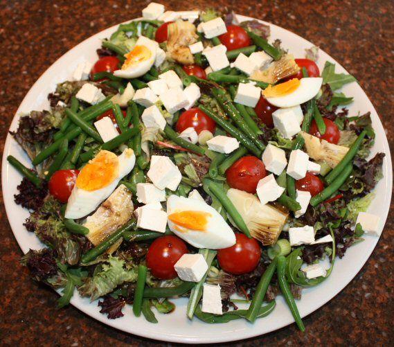 Vegetarische salade Niçoise