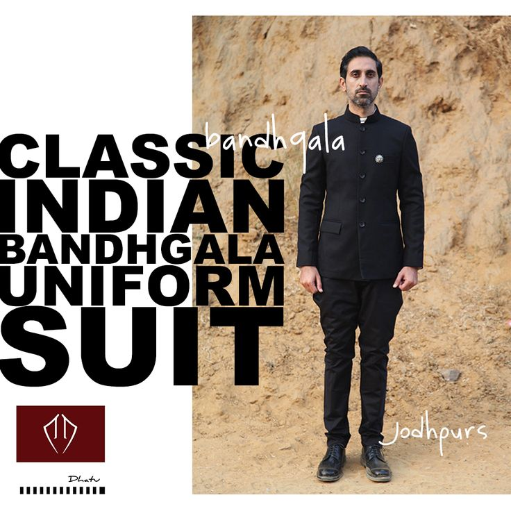 Occasion Wear Bandhgala Suit by Dhātu. Simple yet Significant.  An avidly sought-after piece of Indian attire popularised during the British Raj. Presented in an easy-to-carry edition with just the classic details.