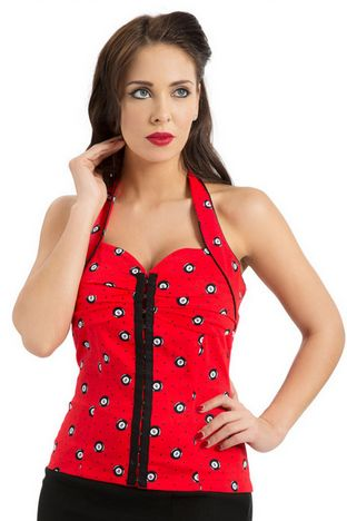 Vintage Retro 8Ball Top In Red