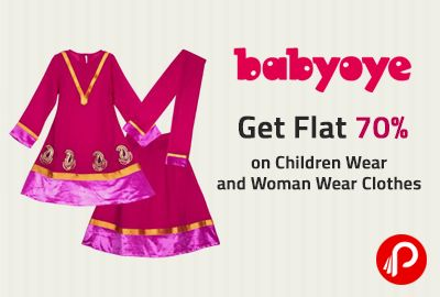 @BabyOye is #offering #huge #discount of flat 70% off on over 30000 products of #boys #clothes, #girlswear and #womenwear. http://www.paisebachaoindia.com/get-flat-70-on-children-wear-and-woman-wear-clothes-babyoye/
