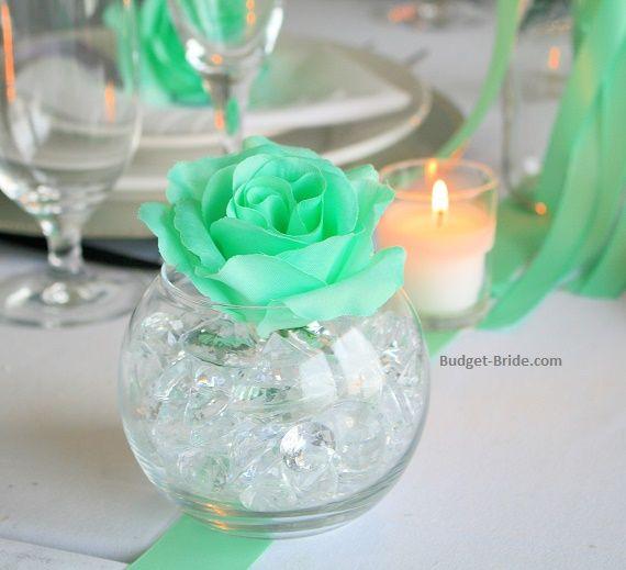 Mint Green Wedding Flower in Bowl