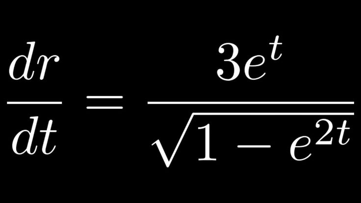 Differential equation drdt 3etsqrt1 e2t in