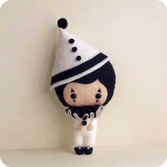 Pierrot the Clown pdf Pattern  Instant Download by Gingermelon, $7.50 Tears of a clown. Oh so true and oh so CUTE!
