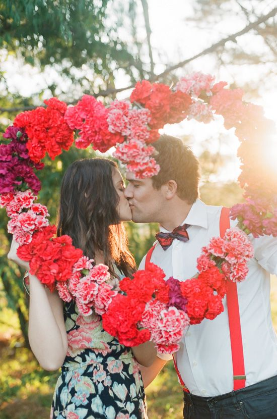 Carnation Heart Wreath | Styling and Floral by Aleksandra  Photography by Tealily Photography