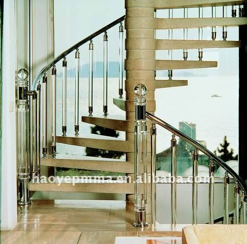 Best 2016 Year Haoye Clear Round Acrylic Stair Railing Acrylic 400 x 300