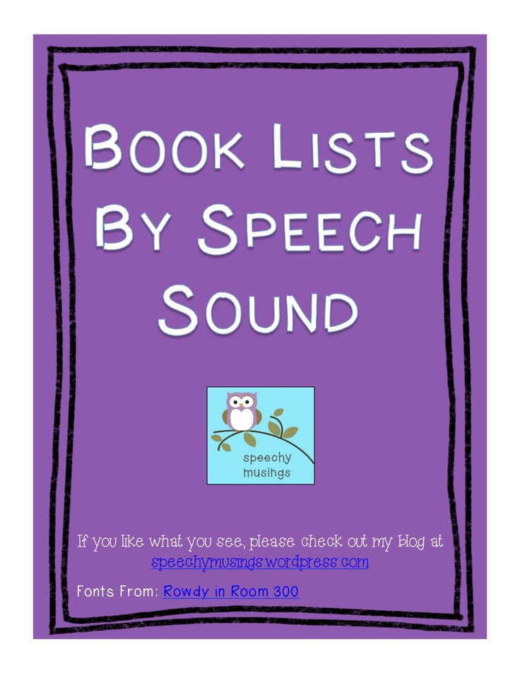 Books to help with speech problems