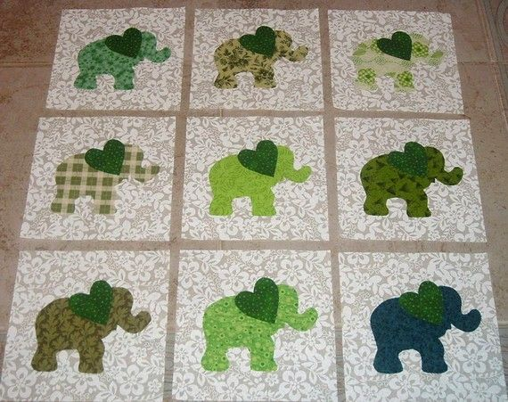 Adorable babies quilt, great for a Nursery!