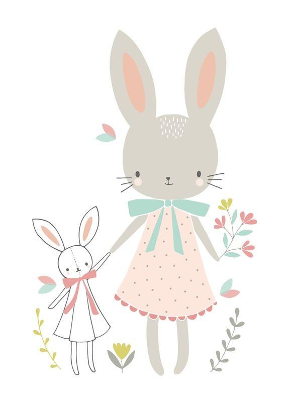 Flora Waycott 'Kaart Bunny Friends'