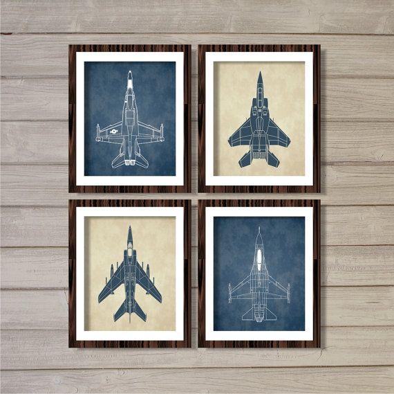 Hey, j'ai trouvé ce super article sur Etsy, chez https://www.etsy.com/fr/listing/181210467/airplanes-set-of-4-8x10-cream-navy