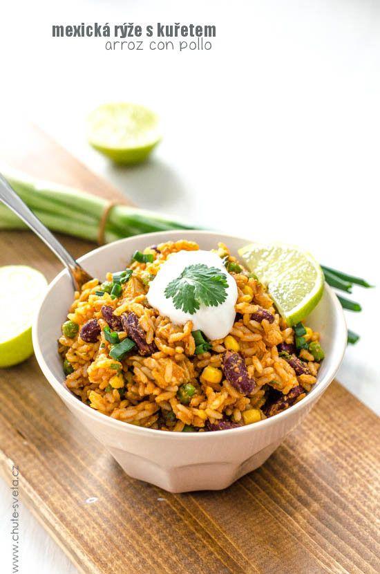 mexická rýže s kuřetem