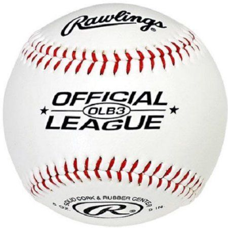 Rawlings Baseball Official League 9 In. Solid Cork, White
