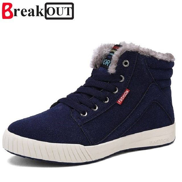 Special offer Break Out New Arrival Men Winter Boots Snow Boots for Men Ankle Boots Warm with Plush&Fur Fashion Men Shoes just only $28.12 with free shipping worldwide  #menshoes Plese click on picture to see our special price for you
