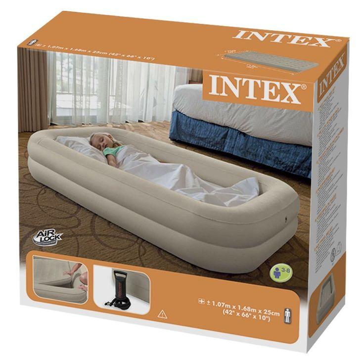 Intex 66810 Airbed Lit gonflable Enfant Floque + Gonfleur de Voyage: Amazon.fr: Cuisine & Maison