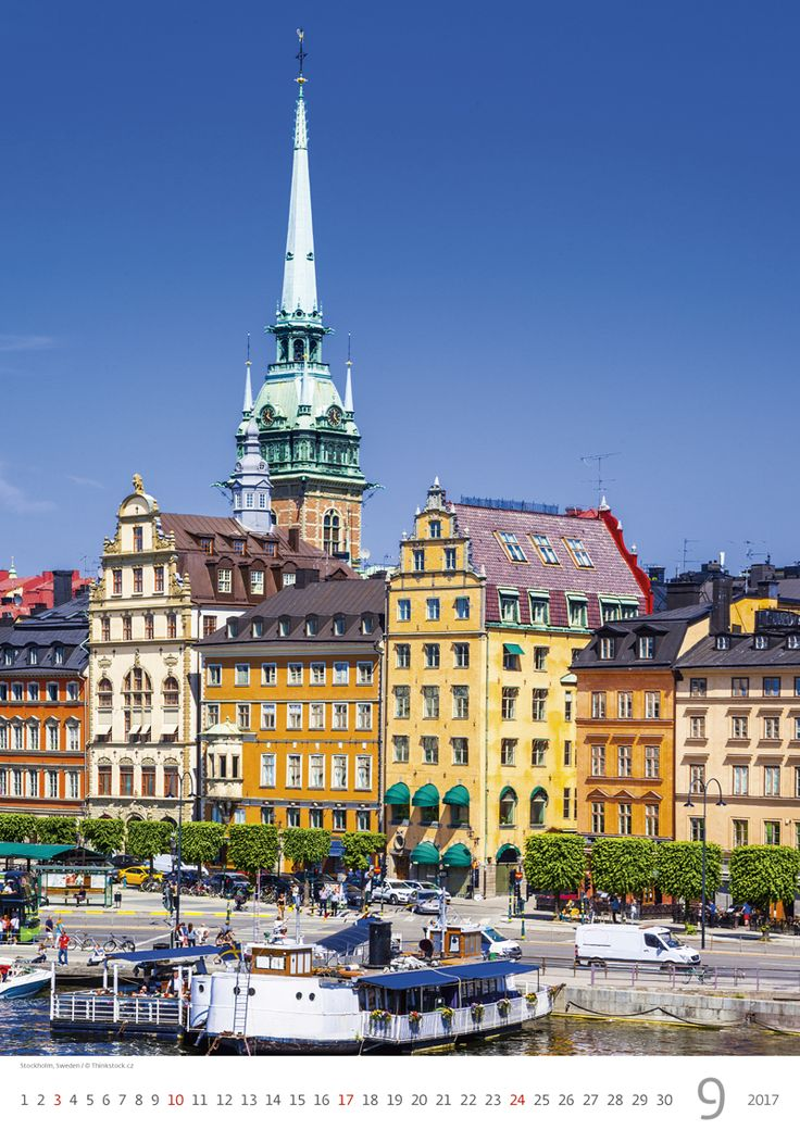 Stockholm, Sweden / Kalendář Evropa 2017
