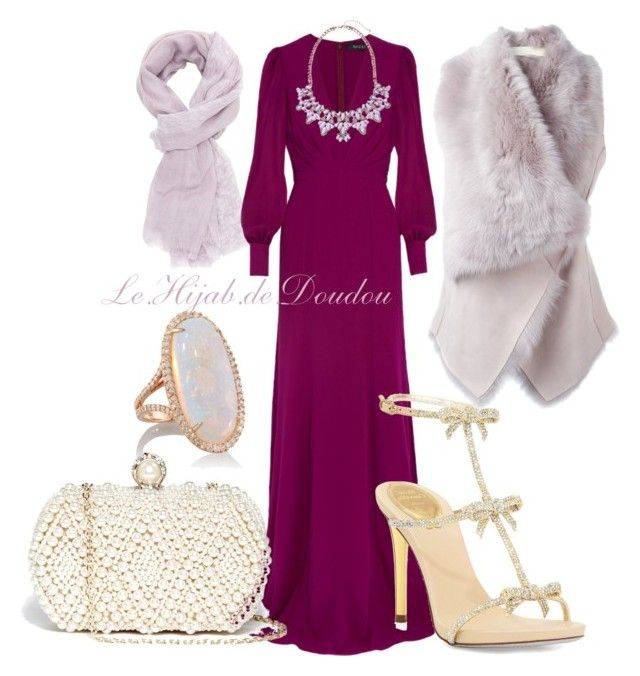 Hijab Outfit by le-hijab-de-doudou on Polyvore featuring polyvore fashion style Gucci Drome René Caovilla GUESS Kimberly McDonald Charlotte Russe women's clothing women's fashion women female woman misses juniors