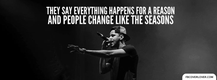 Lost Ones by J Cole Lyrics Facebook Cover - fbCoverLover.