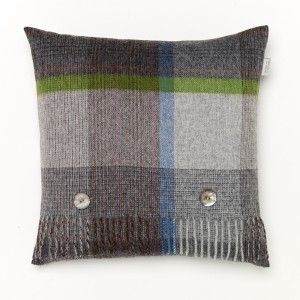 Lambswool Cushion Patchwork Grey #wool #luxury #countrylife