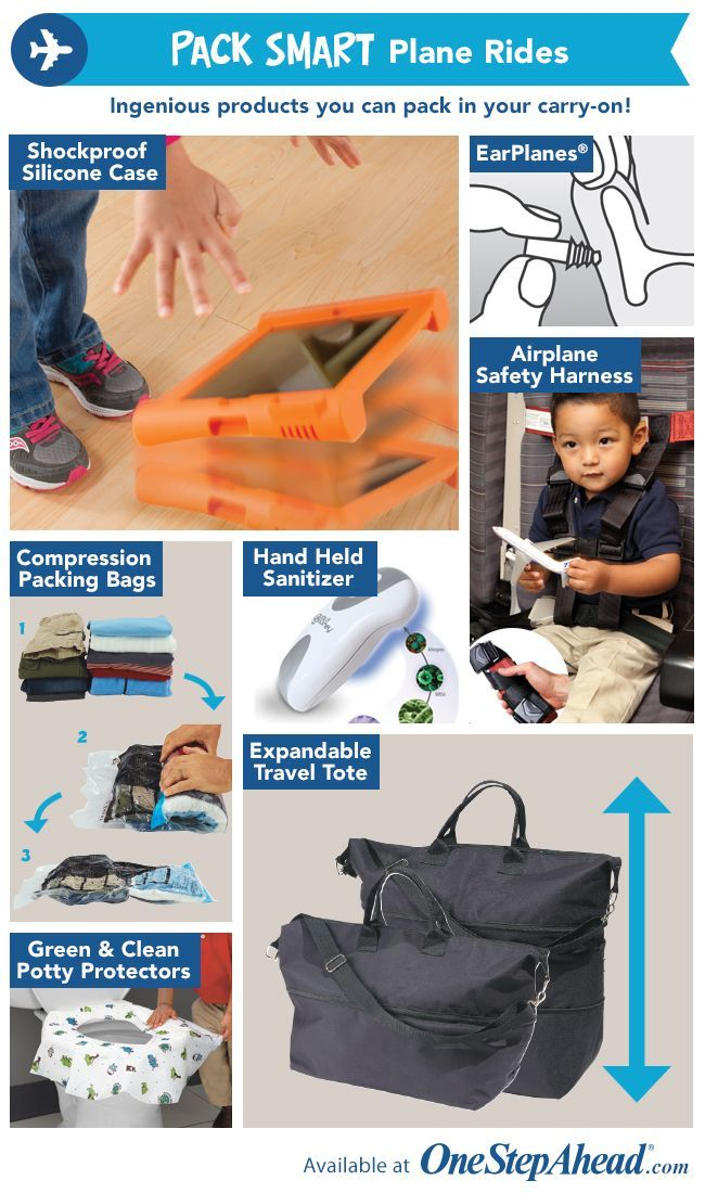 One Step Ahead Pack Smart Plane Rides Kidstravel Travel With