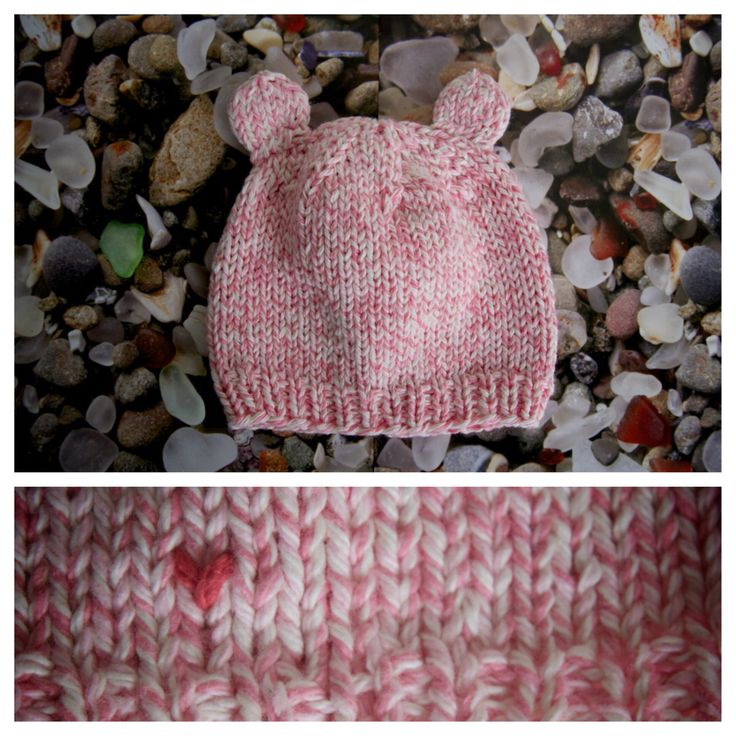 "Baby hat with ears in ""Cotton Candy"". Made with <3 by http://AlyssaPrice.com"