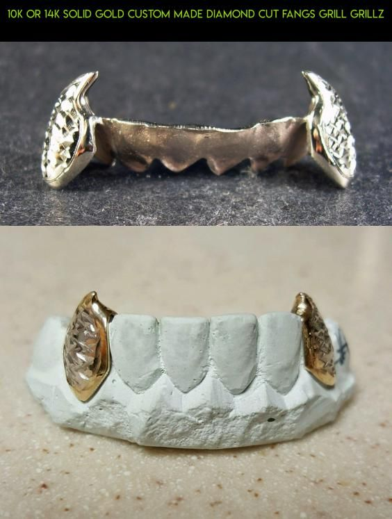 10K or 14K Solid Gold Custom Made Diamond Cut Fangs Grill Grillz #tech #grills #diamond #teeth #kit #camera #parts #shopping #plans #technology #products #fpv #drone #racing #gadgets